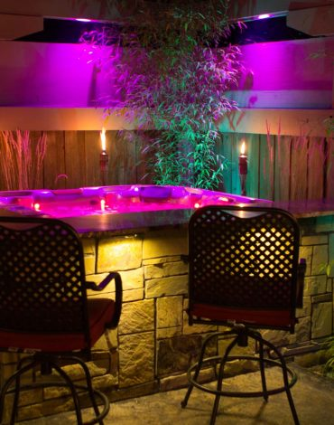 Glenn Landscape Water Feature & Outdoor Night Lighting