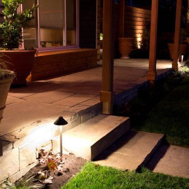 Glenn Landscape Outdoor Covered Patio with Night Lighting